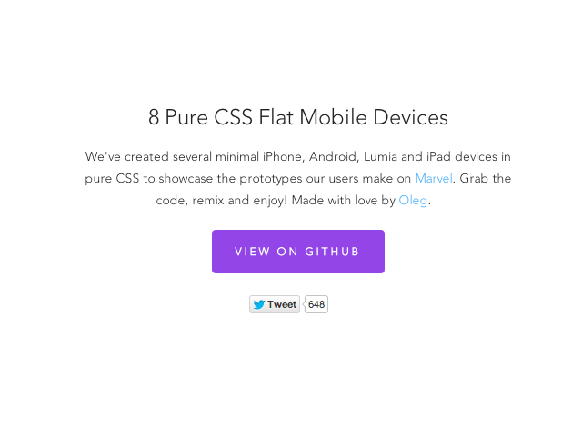 8 Pure CSS Mobile Devices