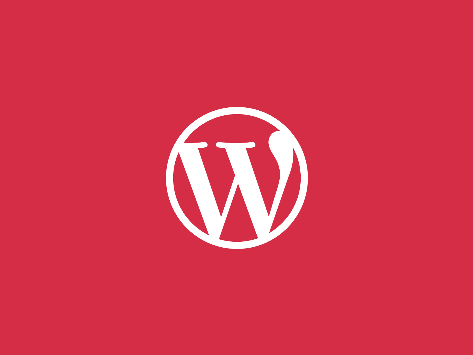 WordPress logo red